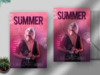 Summer Girls Party Free Flyer Template (PSD)