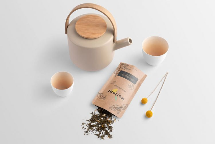 Tea Branding Free Mockup