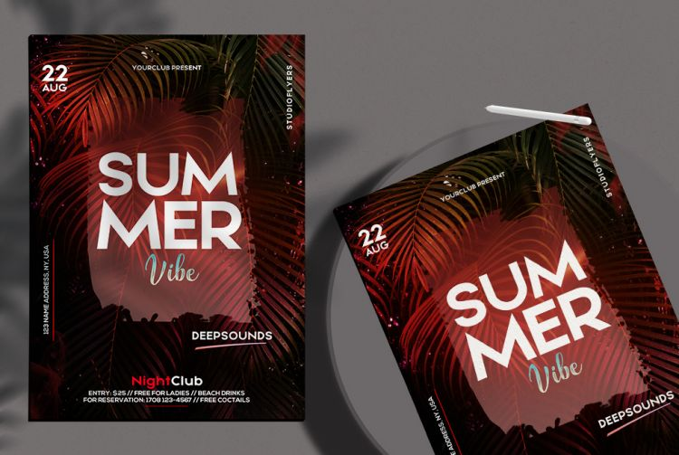 The Summer Vibe Free Flyer Template (PSD)