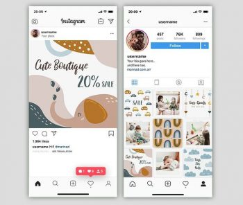 Toy Shop Free Instagram Post Templates (PSD)