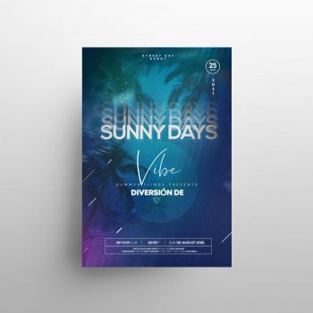 Tropical Night PSD Free Flyer Template