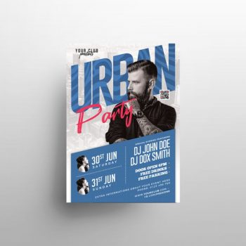 Upcoming DJ Party Free PSD Flyer Template