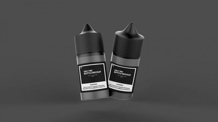 Vaping Bottles Free Mockup (PSD)