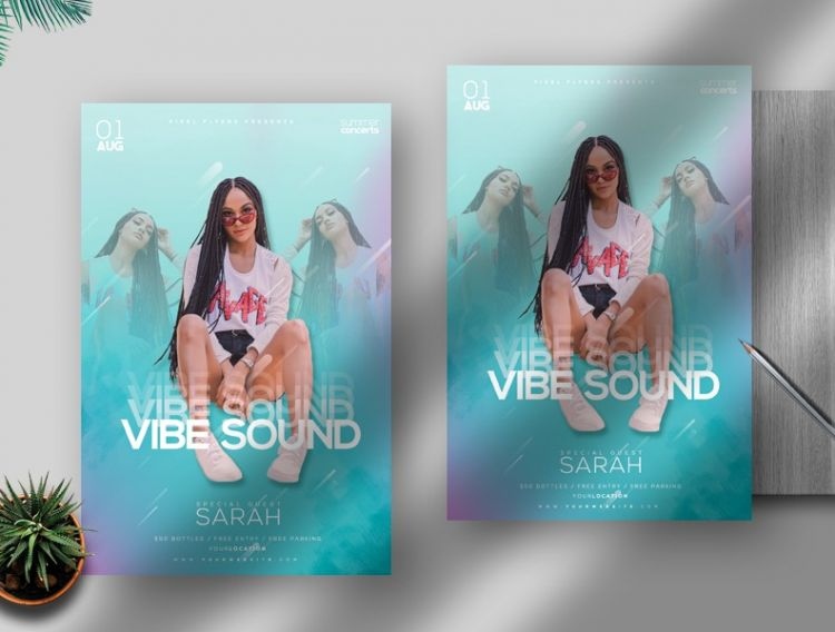Vibe Party Free Event Flyer Template (PSD)
