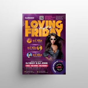 Weekend Party Free Flyer Template (PSD)