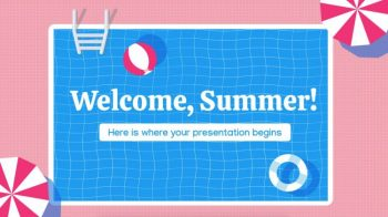 Welcome, Summer - Free PowerPoint Template