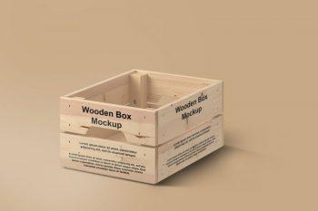Wooden Box Free Mockup (PSD)