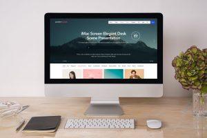 iMac on Desk Free Mockup (PSD)