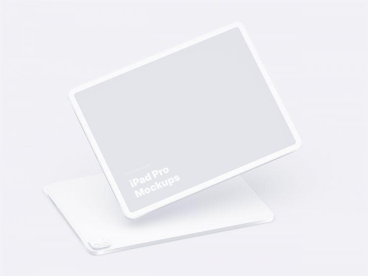 iPad Pro & Clay iPad Free Mockup