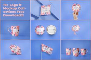 19 Logo Presentation Free Mockup Set