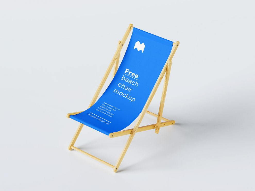 Beach Chair Free Mockup (PSD)