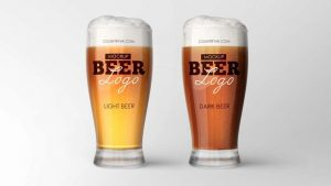 Beer Glass Free Mockup (PSD)