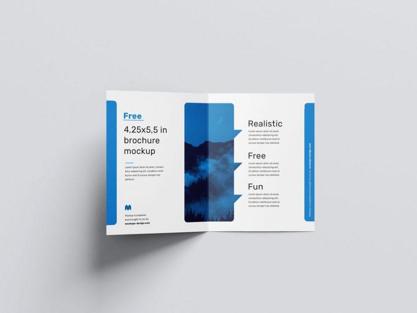 Bi-Fold Brochure Free Mockup (PSD)