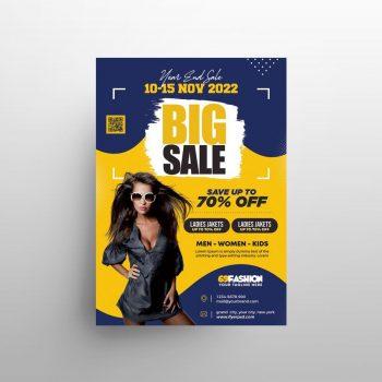 Big Sale Apparel Free Flyer Template (PSD)