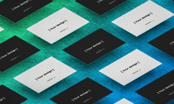 Business Card Showcase Free Mockup (PSD)