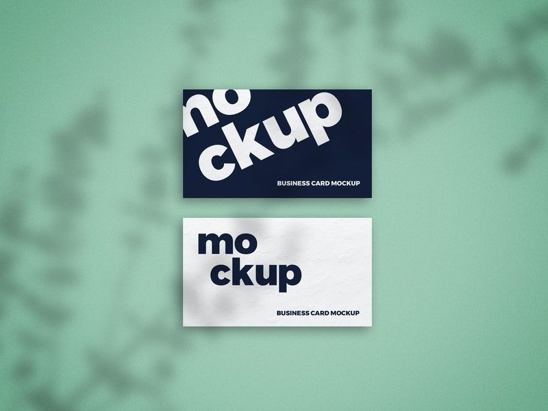 Business Card with Shadow Free Mockup