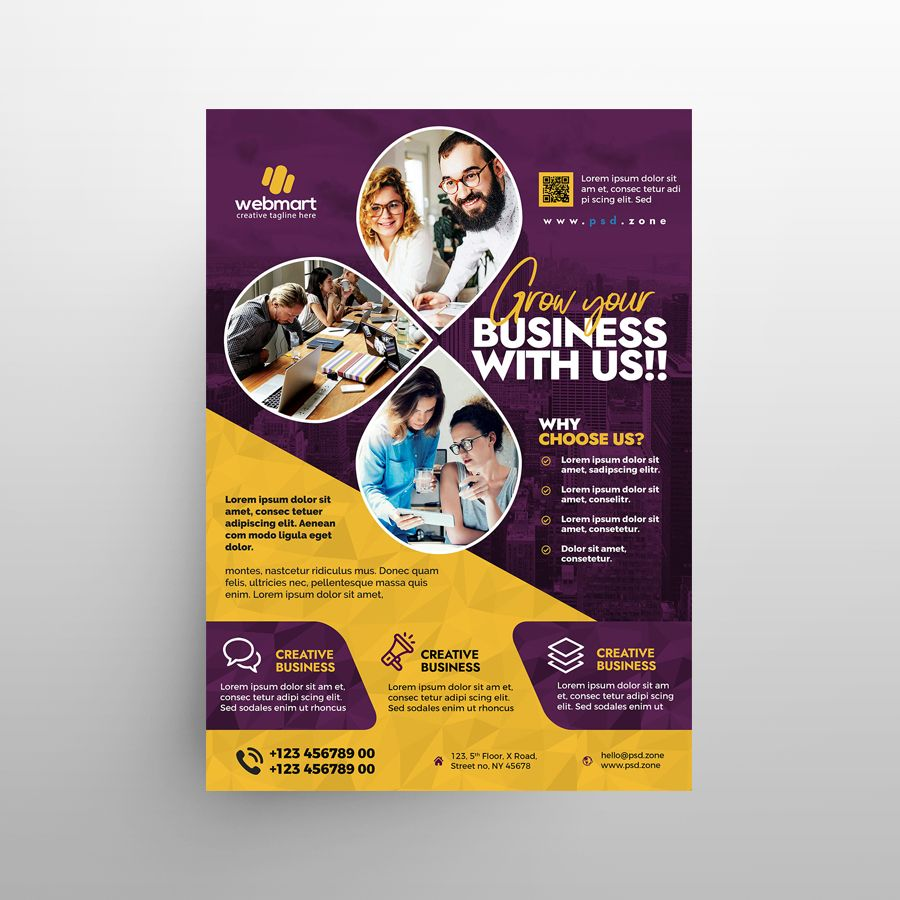 Business Promotion Ad Free Flyer Template (PSD)