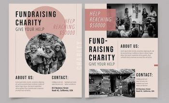 Chairty Free Fundraising Flyer Template (PSD)
