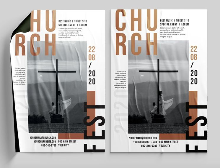Church Day Free Flyer Template (PSD)