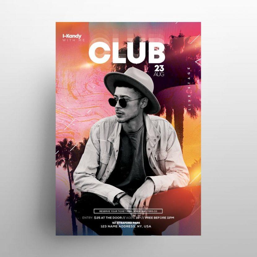 Club & Summer Free Event Flyer Template (PSD)