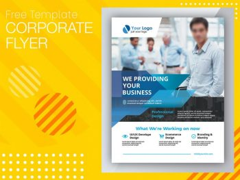 Corporate Promotion Ad Free PSD Flyer Template