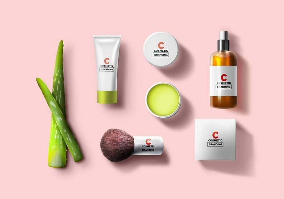 Cosmetic Brand Package Free Mockup