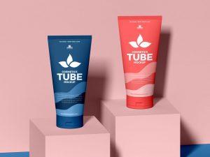 Cosmetic Tubes Free Mockup (PSD)