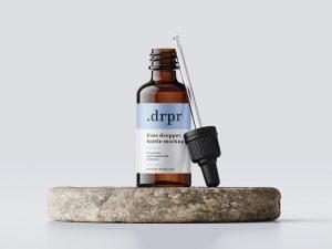 Dropper Bottle Free Mockup (PSD)