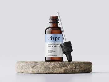 Dropper Bottle Free Mockup (PSD)