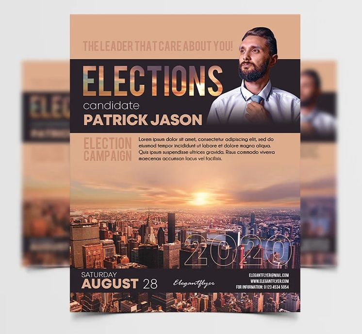 Elections Campaign Free Flyer Template (PSD)