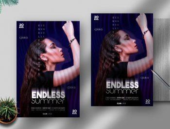 Endless Summer Event Free Flyer Template (PSD)