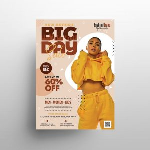 Fashion Flash Sale Free PSD Flyer Template