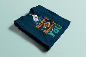 Folded T-Shirt Free Mockup (PSD)