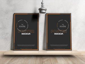 Free 2 Poster Frames Mockup