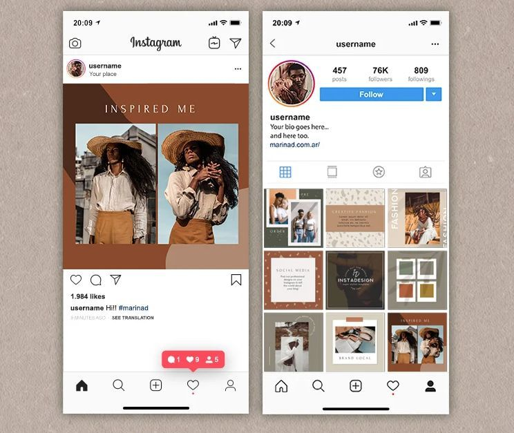 Free Blog Post Instagram Post Templates (PSD)