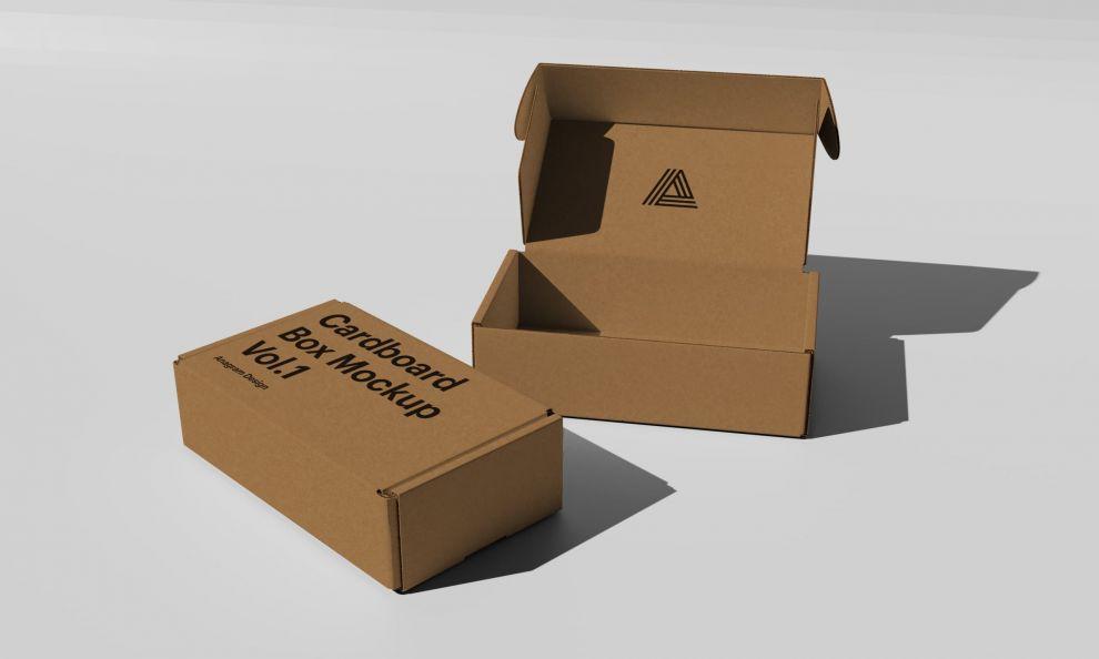 Free Cardboard Mockup (PSD)