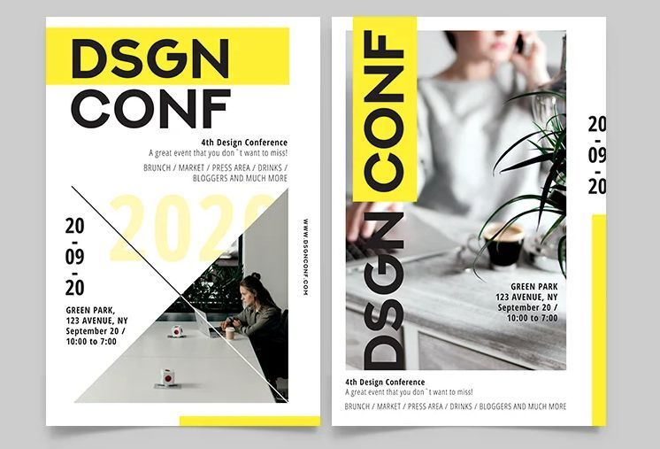 Free Conference Event Flyer Template (PSD)