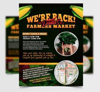 Free Farmers Market Flyer Template (PSD)