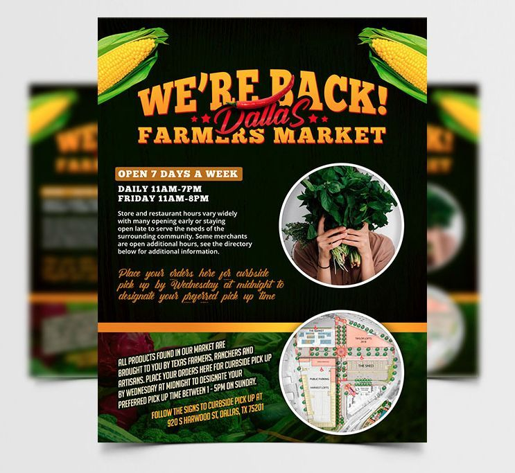 Free Farmers Market Flyer Template (PSD)