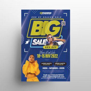 Free Fashion Big Sale Flyer Template (PSD)
