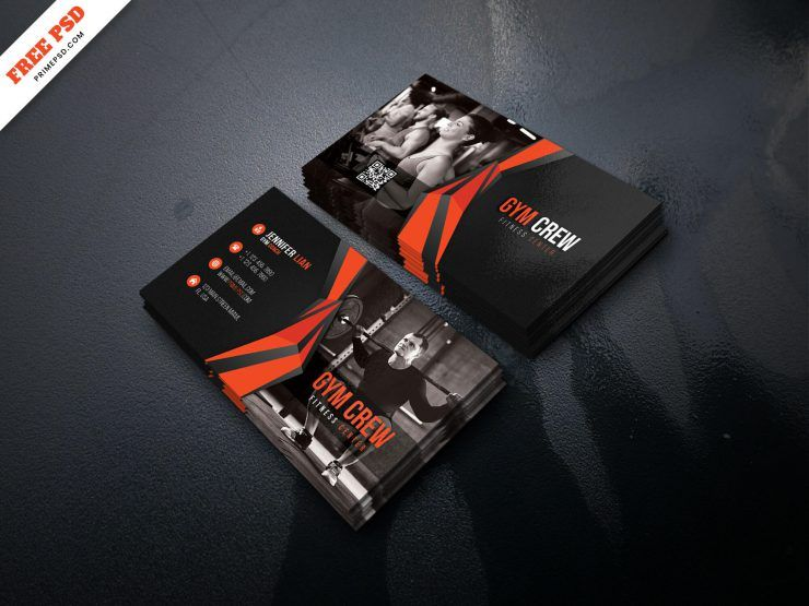 Free Fitness Center Business Card Template (PSD)