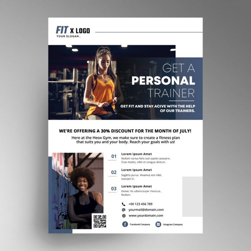Free Fitness Personal Trainer Ad Flyer Template (PSD)