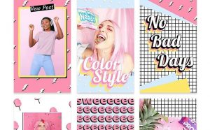 Free Instagram Stories Pink Ad (PSD)