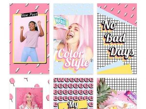 Free Instagram Stories Pink Ad Templates (PSD)