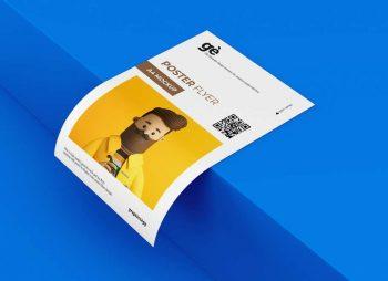 Free Isometric Flyer Mockup (PSD)