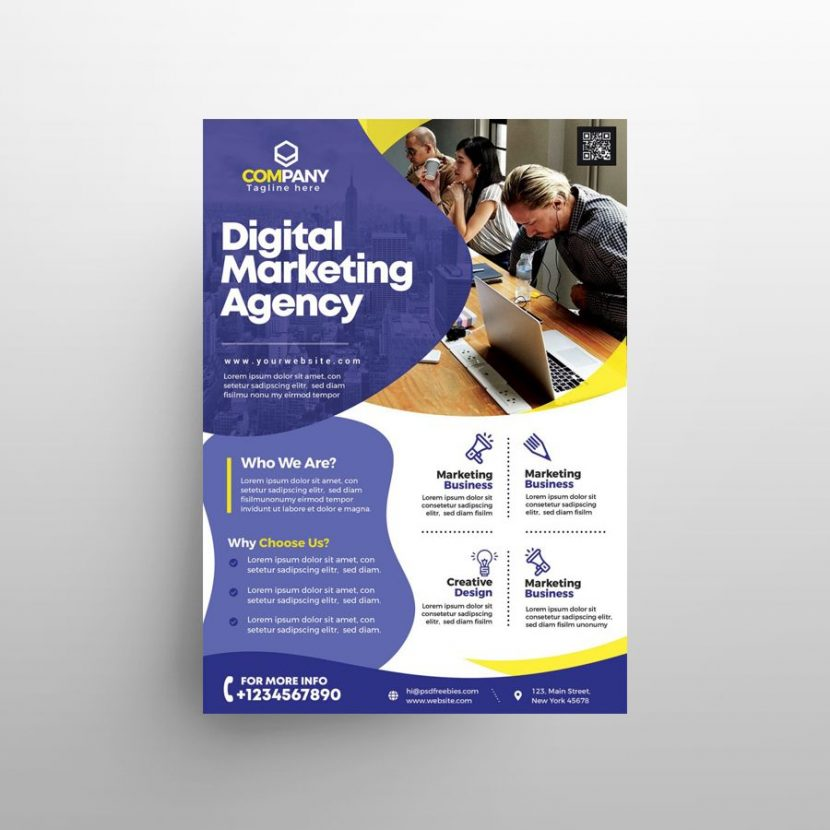 Free Marketing Agency Ad Flyer Template (PSD)