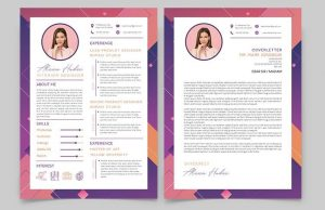 Free Modern Resume CV Template (PSD & AI)