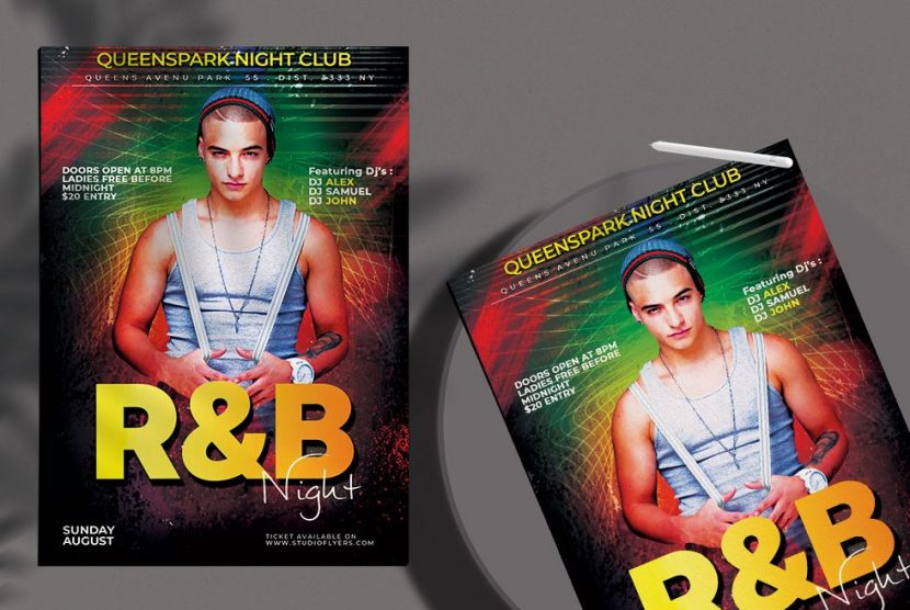 Free RnB Party Night Flyer Template (PSD)