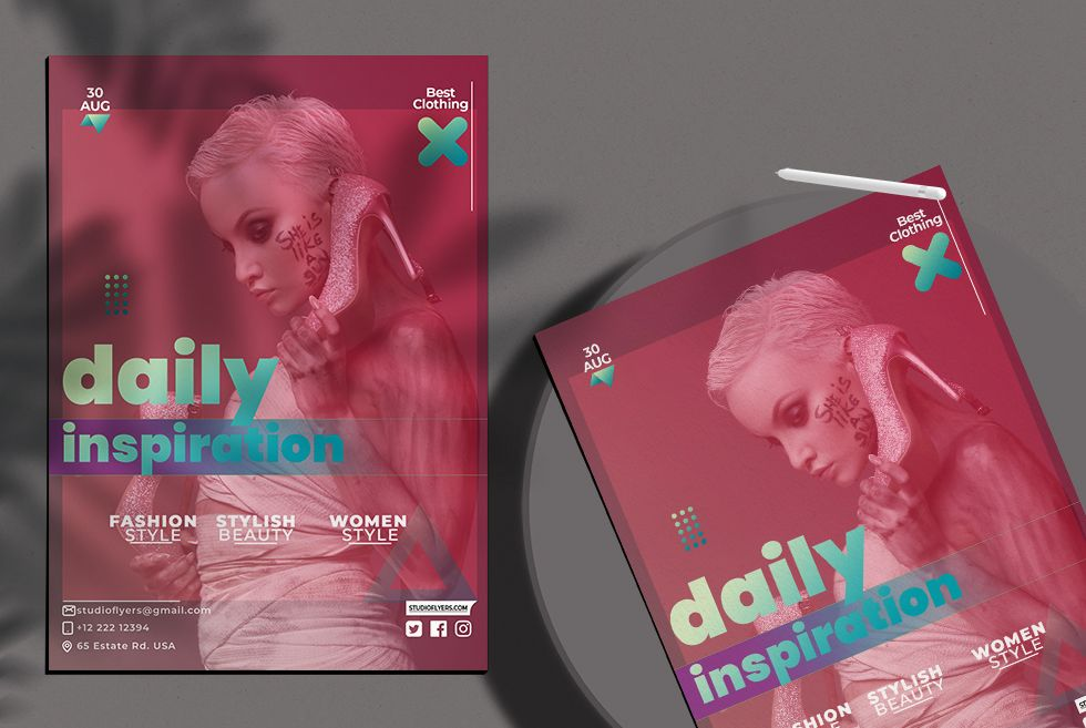 Free Season Fashion Flyer Template (PSD)