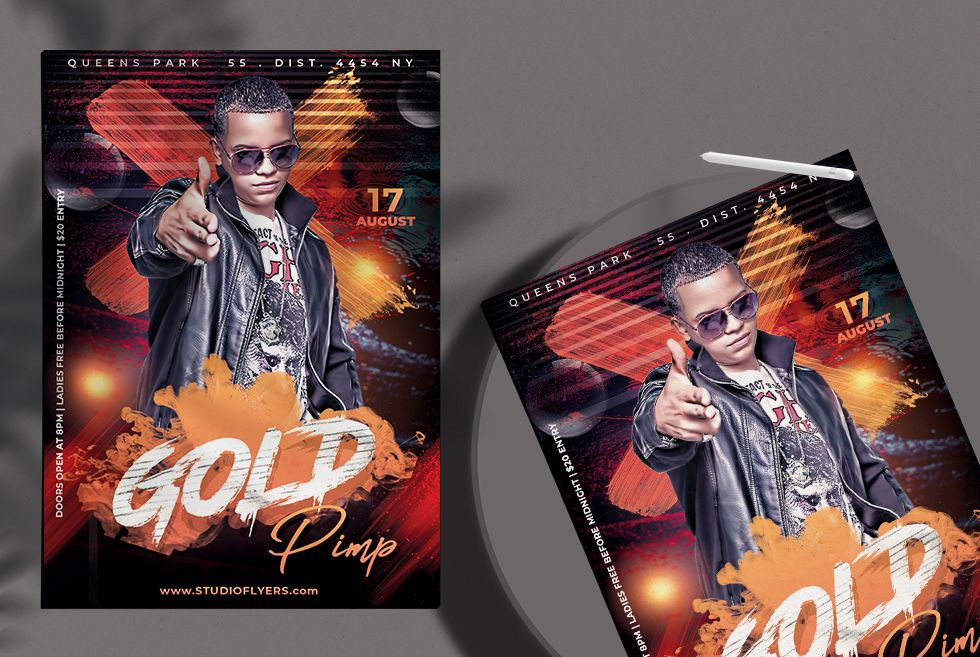 Free Urban Party Flyer Template (PSD)